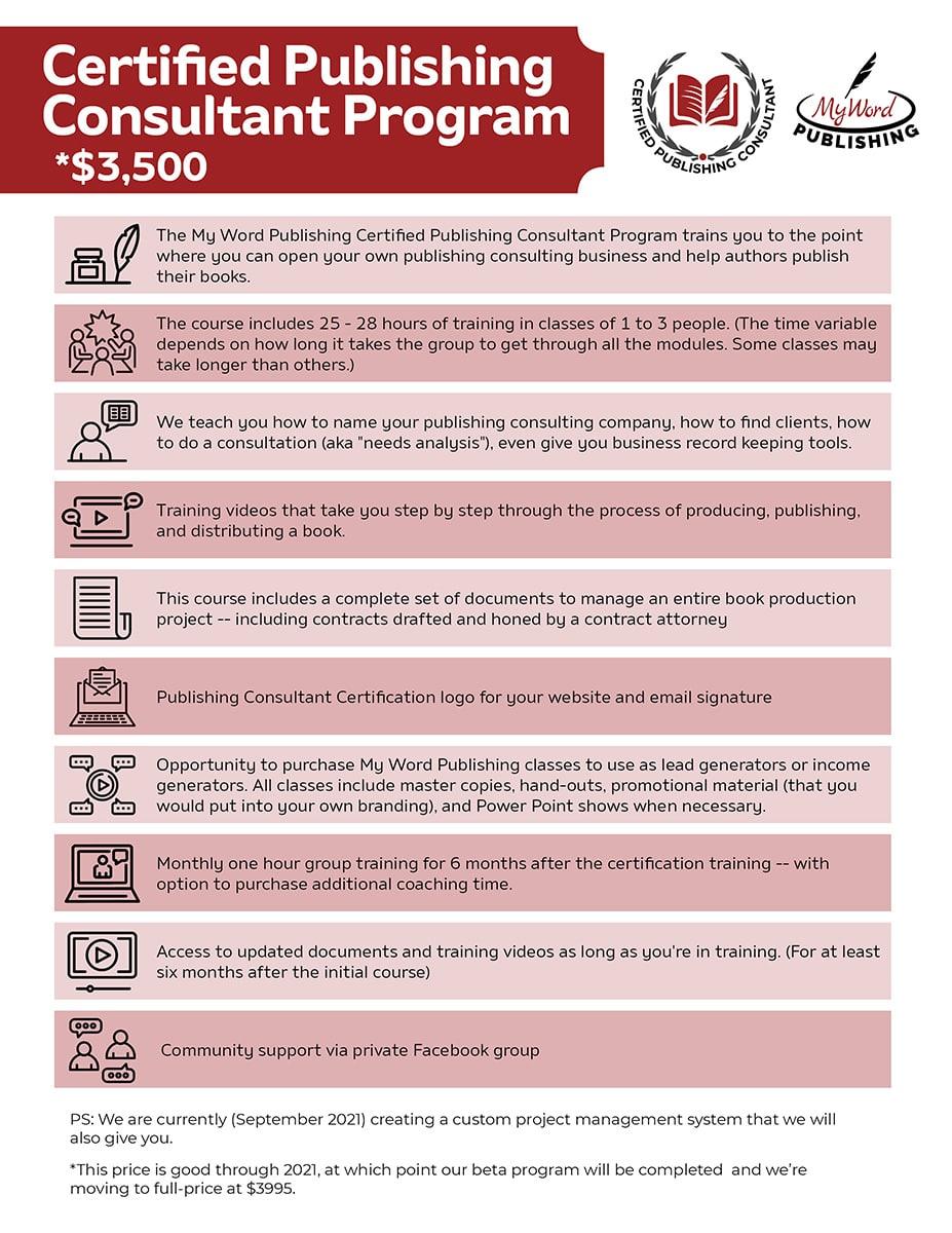 Certified Publishing Consultant Program